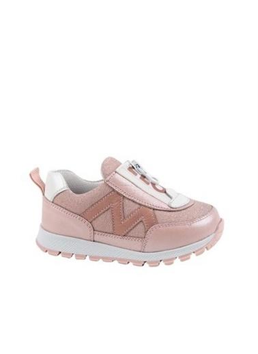 Kids A More Abby Önden Fermuarlı Deri Kız Çocuk Sneaker Pembe Pembe